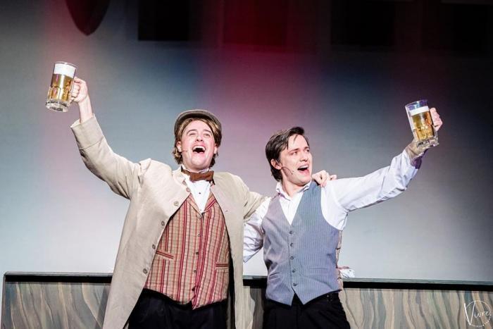 Gary Frank and Jayde Mitchell in Vivre Theatre's A GENTLEMAN'S GUIDE TO LOVE AND MURDER. Photo Credit: Julie Merkle/Vivre Theatre