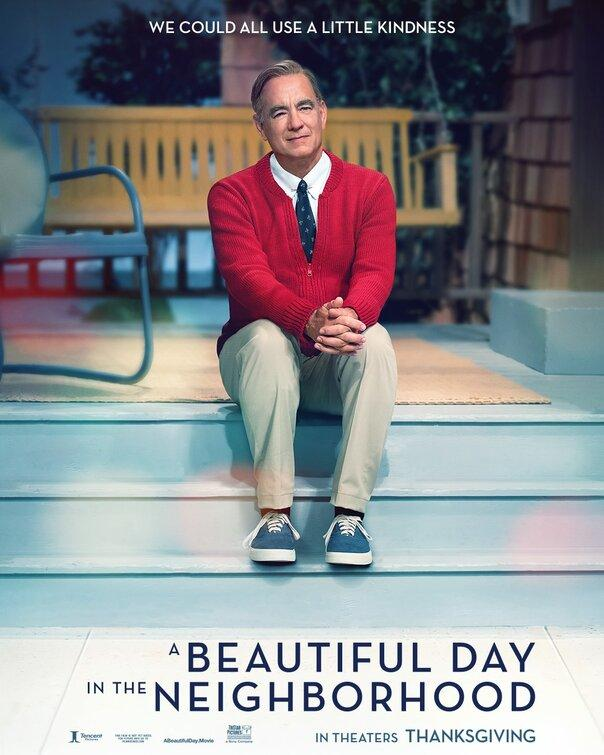 Tom Hanks in A Beautiful Day in the Neighborhood, opening everywhere November 22, 2019