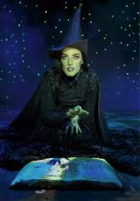 Mary Kate Morrissey as Elphaba the Wicked Witch, December 10, 2015 at the Fox Theatre, St. Louis.