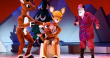 Santa meets Baby Rudolph in Rudolph the Red-Nosed Reindeer: the Musical, Dec 22-23, 2018. Photo Credit: The Fabulous Fox Theatre