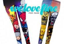 WeLoveFine Star Wars Marvel Leggings Geek