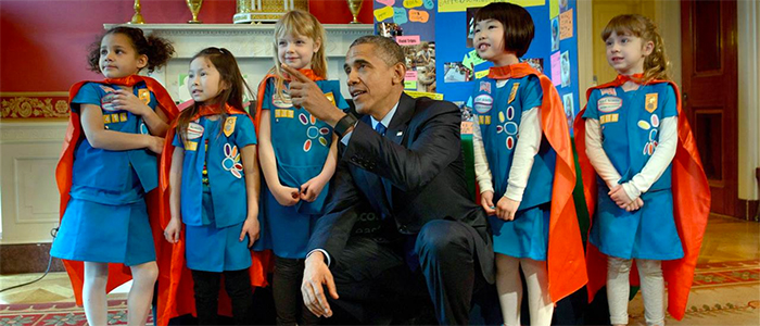Supergirl Power with President Obama