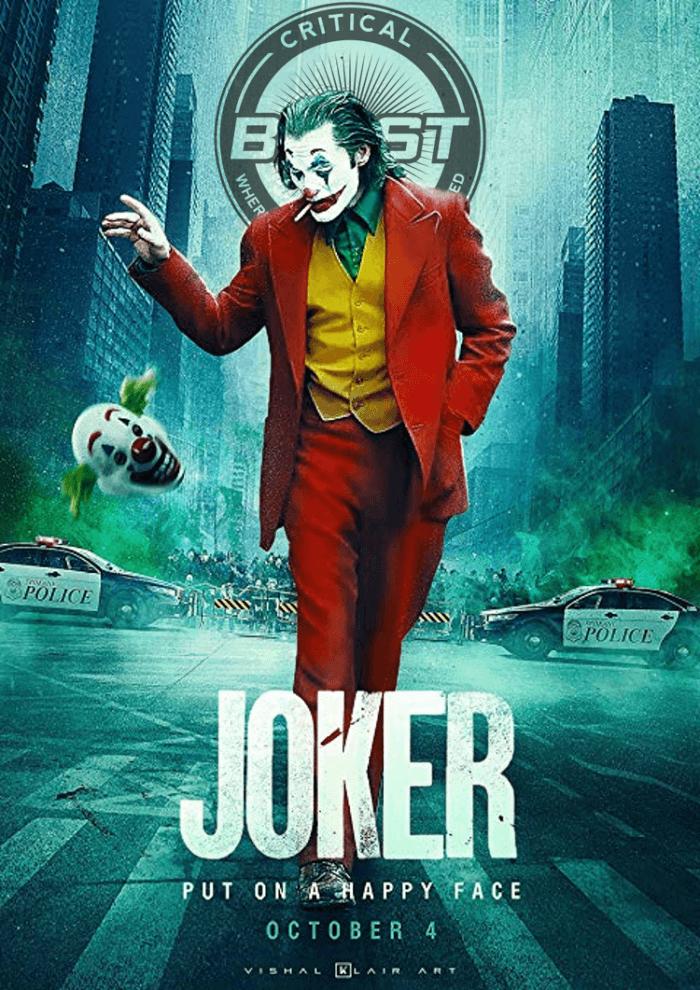Joker Critical Blast Best of 2019 Film Award