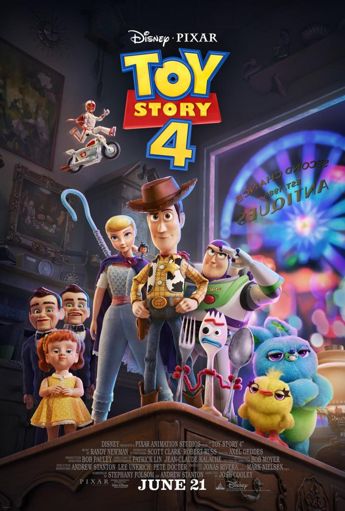 Toy Story 4 opens June 21, 2019.