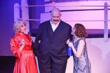 Sarah Porter, Zachary Allen Farmer and Eileen Engel in New line Theatre's ANYTHING GOES, Mar 1-24, 2017. photo Credit: Jill Ritter Lindberg