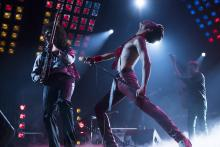 Bohemian Rhapsody starring Rami Malek (r) and Gwilym Lee (l), opening in theaters everywhere Nov 2, 2018.