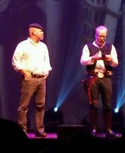 """Jamie Hyneman and Adam """"Han Solo"""" Savage brought the Mythbusters Tour to St. Louis on 4/18/15. Photo by Jeff Ritter"""
