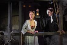 """The Gantry"" Katie Travis as Christine Daaé and Chris Mann as The Phantom. Photo: Matthew Murphy"